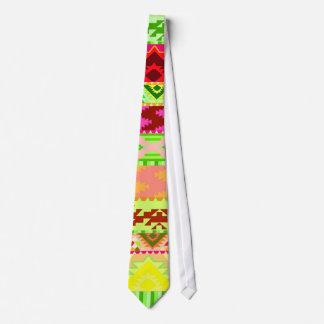 Bright Neon Aztec Pattern Neck Tie