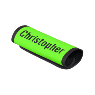 Bright Neon Bag ID Personalized Name Handle Wrap
