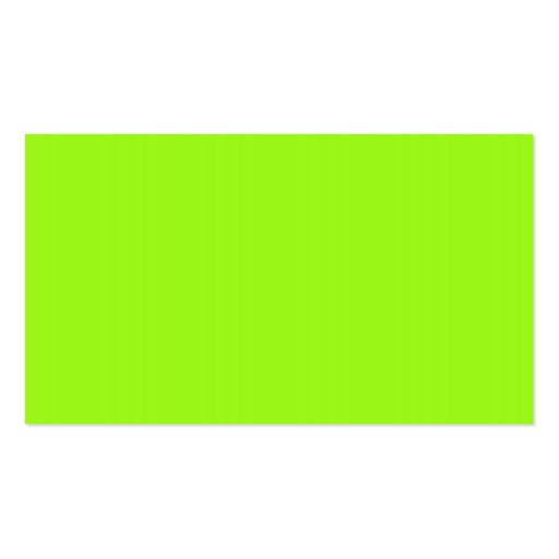 Bright Neon Chartreuse Green Business Card