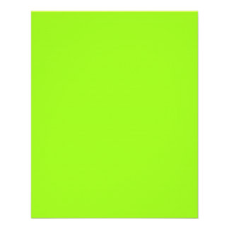 Bright Neon Chartreuse Green Flyer