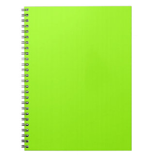 Bright Neon Chartreuse Green Notebook