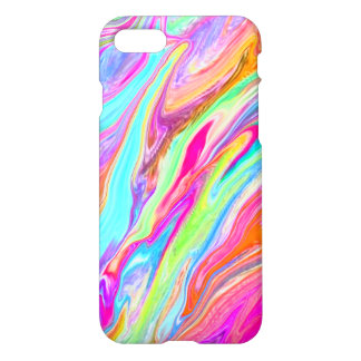 Bright Neon Color Swirl iPhone 8/7 Case