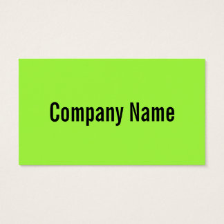 Bright neon green color business card template 100