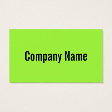 Professional Business Bright neon green color business card template 100