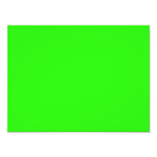 Bright Neon Green Color Trend  Blank Template Photo Print