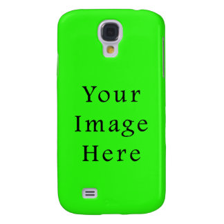 Bright Neon Green Color Trend Blank Template Samsung S4 Case