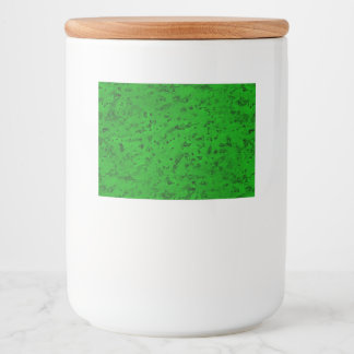 Bright Neon Green Cork Bark Look Wood Grain Food Label