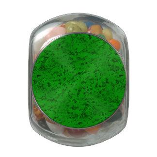 Bright Neon Green Cork Bark Look Wood Grain Jelly Belly Candy Jar