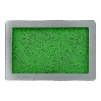 Bright Neon Green Cork Bark Look Wood Grain Rectangular Belt Buckle