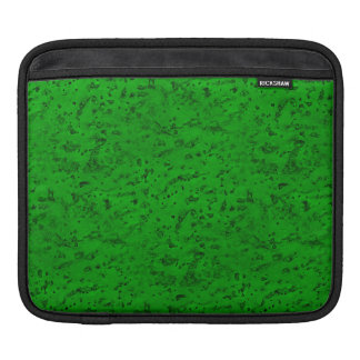 Bright Neon Green Cork Bark Look Wood Grain Sleeve For iPads