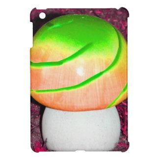 Bright neon green mushroom case for the iPad mini