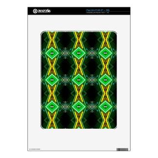 Bright Neon Green Tribal Diamond Pattern iPad Decal