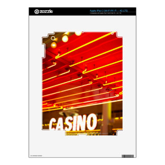 Bright neon lights in front of casino, Las Vegas Decals For iPad 3