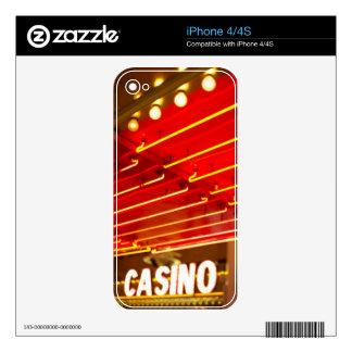 Bright neon lights in front of casino, Las Vegas iPhone 4S Decals