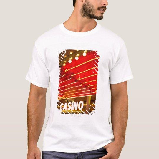 Bright neon lights in front of casino, Las Vegas T-Shirt