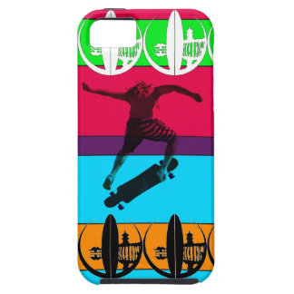 Bright Neon Longboarder iPhone 5 Covers