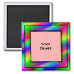Bright Neon Photo Frame Magnet