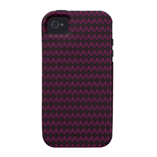 Bright Neon Pink Alien Head Pattern Vibe iPhone 4 Cases