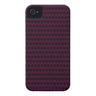 Bright Neon Pink Alien Head Pattern iPhone 4 Case-Mate Cases