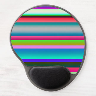 Bright Neon Rainbow Stripes Gel Mouse Pad