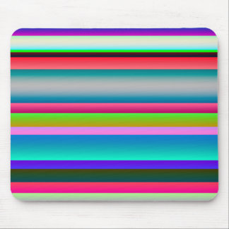 Bright Neon Rainbow Stripes Mouse Pad