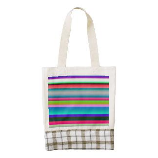 Bright Neon Rainbow Stripes Zazzle HEART Tote Bag