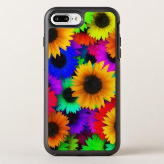 Bright Neon Sunflower Field OtterBox Symmetry iPhone 7 Plus Case