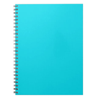 Bright Neon Teal Blue Notebook
