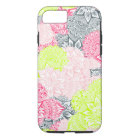 Bright neon yellow henna floral paisley pattern iPhone 8/7 case
