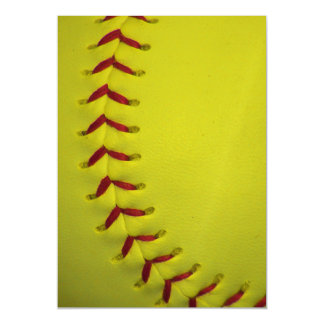 Bright Neon Yellow Softball Magnetic Card