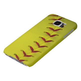 Bright Neon Yellow Softball Samsung Galaxy S6 Case