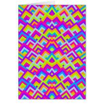 Bright Neons Zigzag Symmetric Peeks Pattern