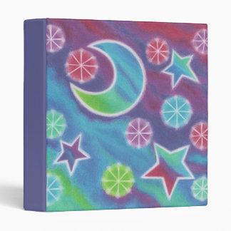 Bright Night custom binder blue