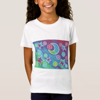 Bright Night girls baby doll (fitted) t-shirt