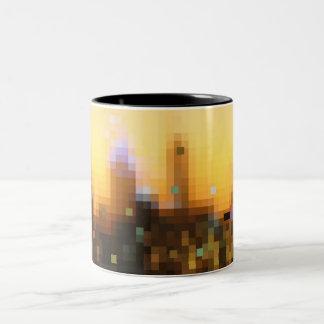 bright nights big city Two-Tone coffee mug