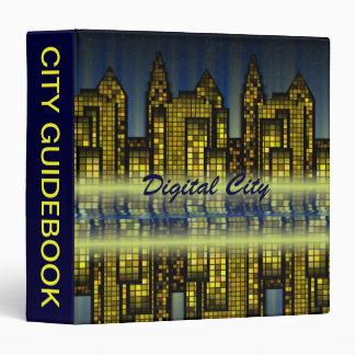 Bright Nighttime Lights in the Digital City Binder