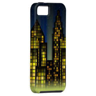 Bright Nighttime Lights in the Digital City iPhone 5 Case