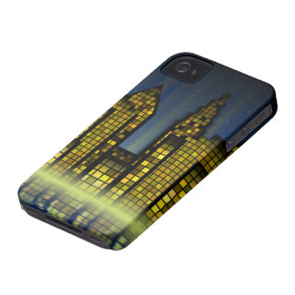 Bright Nighttime Lights in the Digital City iPhone 4 Case