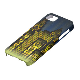 Bright Nighttime Lights in the Digital City iPhone SE/5/5s Case