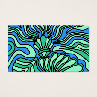 Bright Ocean Theme Design. Business Card