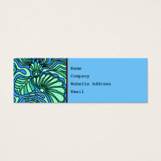Bright Ocean Theme Design. Mini Business Card