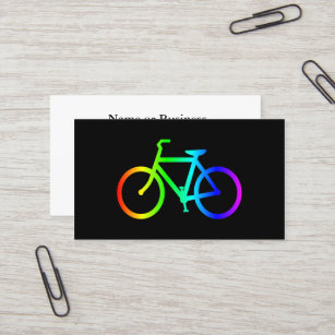 Bicycle business cards templates zazzle bright ombre rainbow bicycle business card colourmoves