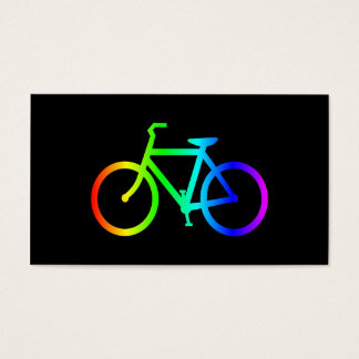 Bright Ombre Rainbow Bicycle Business Card