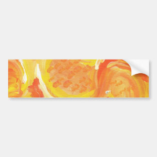 bright orange abstract painting car bumper sticker