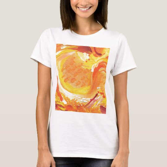 bright orange abstract painting T-Shirt