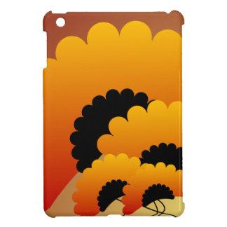Bright Orange and Black Flowers iPad Mini Case
