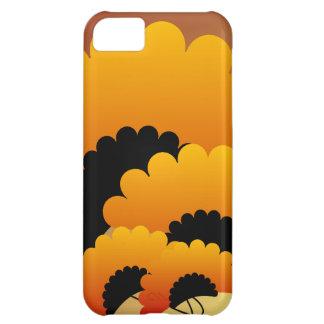 Bright Orange and Black Flowers iPhone 5C Cover