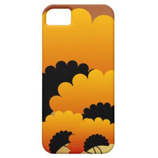 Bright Orange and Black Flowers iPhone SE/5/5s Case