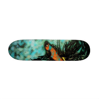Bright Orange and Blue Beta Fish Skateboard