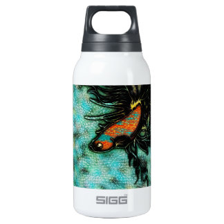 Bright Orange and Blue Beta Fish Thermos Bottle